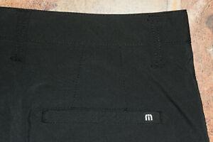 Travis Mathew Mens Hefner Golf Shorts Stretch Dark Gray Size 32 EUC 👀🔥 B24