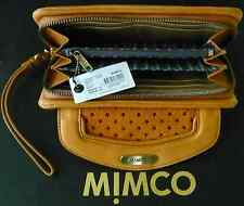 NEW MIMCO TRAPEZO XL LEATHER WALLET + WRISTSTRAP in HONEY  rrp $249 SALE $139
