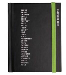 Password Black Book - Small Pocket Notebook - Phonetic Alphabet Design