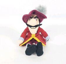 "Disney Captain Hook Plush Beanie Peter Pan Stuffed Toy Doll 6"""