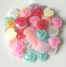 HOT!R996 50pcs 10mm fashion Heart-shaped accessories for phone / wedding / craft