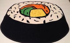 "Accoutrements Sushi Roll Kitchen or Bath Mat Rug Novelty Round 24"" x 24"" NWT"