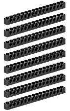 LEGO Technic 8 pcs XL BLACK BRICK BEAM 1x16 WITH HOLES 16 studs long Part 3703
