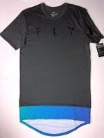 Men's Nike Dry Dri-Fit The Nike Tee Athletic Cut Longer Length Basketball Shirt
