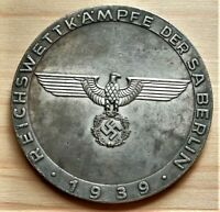 WW2 GERMAN COMMEMORATIVE COLLECTORS COIN REICHSMARK BERLIN '39 , 39mm