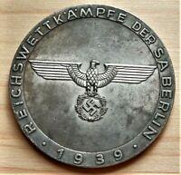 WW2 GERMAN COMMEMORATIVE COLLECTORS COIN REICHSMARK BERLIN '39 , 39mm