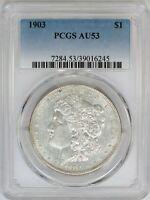 1903-P PCGS Silver Morgan Dollar AU53 Tough Date - White Coin