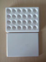 1PC Dental Lab Porcelain Mixing Watering Plate Wet Tray 24 pits plastic plate