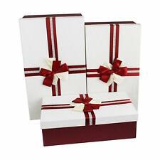 Set 3 Large Luxury Rectangle Wedding Shower Party Hamper Storage Gift Boxes Box