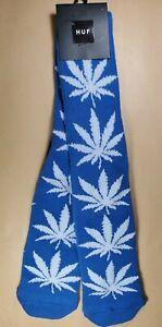 HUF Weed Crew Socks 1 Pair Men  Leaf Dope white / black