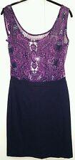 Damenkleid Sommer Trägerkleid etuiKleid eur M MANGO blau pink lila TOP