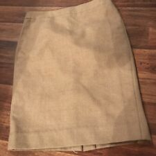 J. Crew camel Brown No. 2 pencil skirt in double serge wool fully lined Size 4