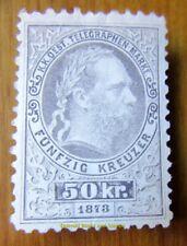 EBS Austro-Hungarian Empire 1873 Telegraph Stamp - Franz Joseph I ANK T14 MNG