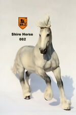 """Mr.Z 1/6 Scale White Resin Shire Horse Model Statue For 12""""  Figure Doll 002 Toy"""