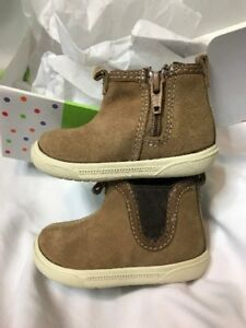 STRIDE RITE Lil Tabor BROWN SUEDE Infant Baby Boy Booties Shoes 2M 3-6 Month NEW