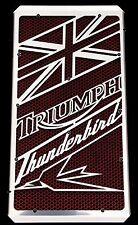"""cache / Grille de radiateur Triumph Thunderbird """"Union Jack"""" + grillage rouge"""