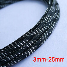 Ø3-25mm PET Braided Sleeving - Braid Cable Wiring Harness Loom Protection