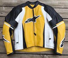 ALPINESTARS 2004 10024 Armored Street Racer Motorcycle Leather Jacket Men's 36