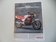 advertising Pubblicità 1986 MOTO HONDA CB 450 S