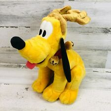 Disney Pluto Dog Holiday Bell Collar Christmas Stuffed Plush Toy