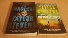 The Informationist & Innocent by Taylor Stevens 2 book PB lot