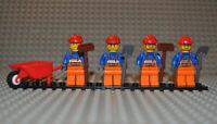 Lego City Figuren Konvolut con011 cty0096 cty0011 Arbeiter + Ausrüstung