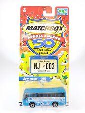 2002 MATCHBOX ACROSS AMERICA NEW JERSEY IKARUS COACH - NEW NOC - 1/140 DIECAST