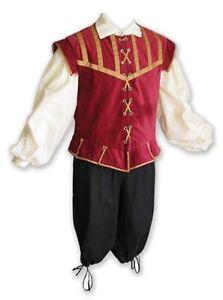 Men's Renaissance Doublet // Medieval Pirate LARP Reenactment Costume - 3 Piece