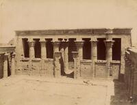 Photo Zangaki Albuminé Egypte Edfou Vers 1875/80