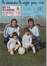 REAL MADRID #308 Enero 1976 Revista Oficial Amancio Pirri Netzer Futbol Football