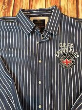 XXL Nils Sundstrom UK Rugby Union 2XL Long Sleeve Button Down Striped Shirt
