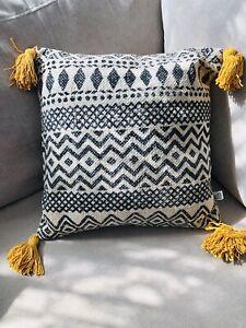 Scandi Style Cushion (black, white, orange)