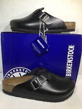 Birkenstock Mens Size 8 EU 41 Boston Amalfi Black Leather Clogs ZB5-2174