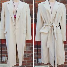 Max Mara Coat size 14  Belted Wrap long Coat wool blend trench mac made in Italy