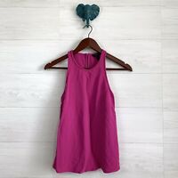 J Crew SZ 2 Magenta Pink Crepe High Neck Sleeveless Tank Shell Blouse Top Womens