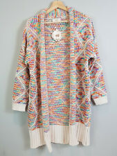 HQ | Womens Rainbow Chunky Emmy Cardigan NEW [ Size S / M or AU 10 - 12 ]