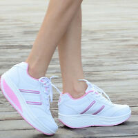 Womens Girls Platform Wedge Casual Trainers Travel Spring Boots Sneakers Shoes