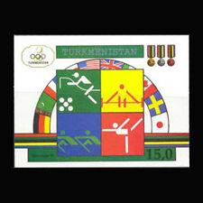 TURKMENISTAN, Sc #23, MNH, 1992, S/S, Olympics, Flags, Barcelona, AR5