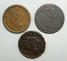 Early U.S Large Cent CULL Coins Coronet Braided Classic 1808-1857 1 COIN