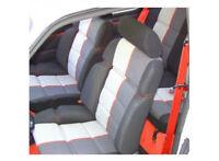 Garniture sièges avant pour 205 GTI  tissu côtelé noir / Ramier réf : 205/049