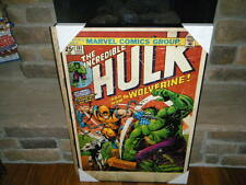"""VINTAGE HUGE HULK 1ST FULL WOLVERINE COMIC #181 COVER WALL ART PICTURE 24"""" X 36"""""""