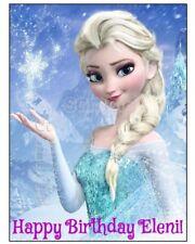 ELSA Edible cake decoration topper sheet image Frozen Castle anna olaf princess