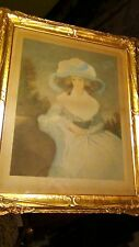 """ANTIQUE  FRENCH MASTER AQUATINT ETCHING """"MRS.DRUMMOND SMITH""""by ROMNEY/CHEESMAN"""