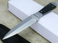 Full Tang Horn handle Bossom Style knife Dagger Fixed Blade w Sheath