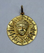 Vintage 22 K solid gold Sun pendant necklace jewelry