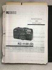 Ricoh RZ-1100, 750, S-30, FF-7, 9, D, Mirai Camera Service Repair Manual & Parts