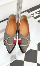 Runway Designer Inspired Black White Gold Casual Slip On Loafer Flats  Shoes 4.5