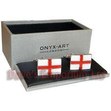 Cruz De San Jorge Gemelos En Caja - English Bandera De Inglaterra Gemelos