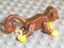 Singe LEGO PIRATES minifig OldBrown monkey 2550c01 / Set 6278 6290 6289 6292 ..