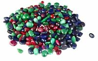 99-4999 CT Natural Mix Shape Emerald, Ruby & Sapphire Loose Gemstone Lot